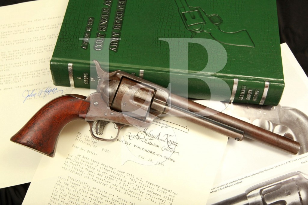 Unique Ainsworth Inspected Colt Cavalry Single Action Army Revolver – Photographed in the Kopec Book!