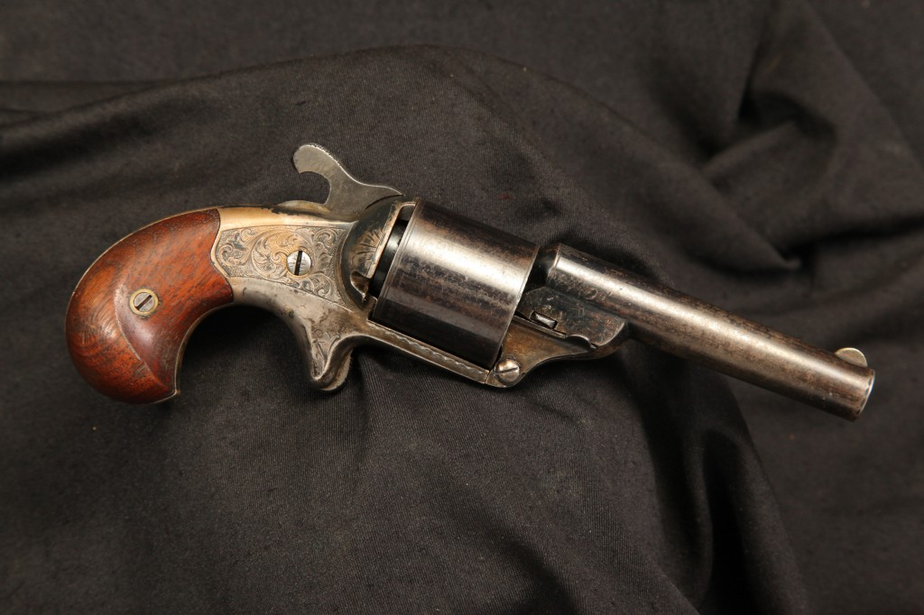 Moore's Pat. Fire Arms Co. Front Loading .32 Caliber Teat-Fire Single Action Revolver - Antique