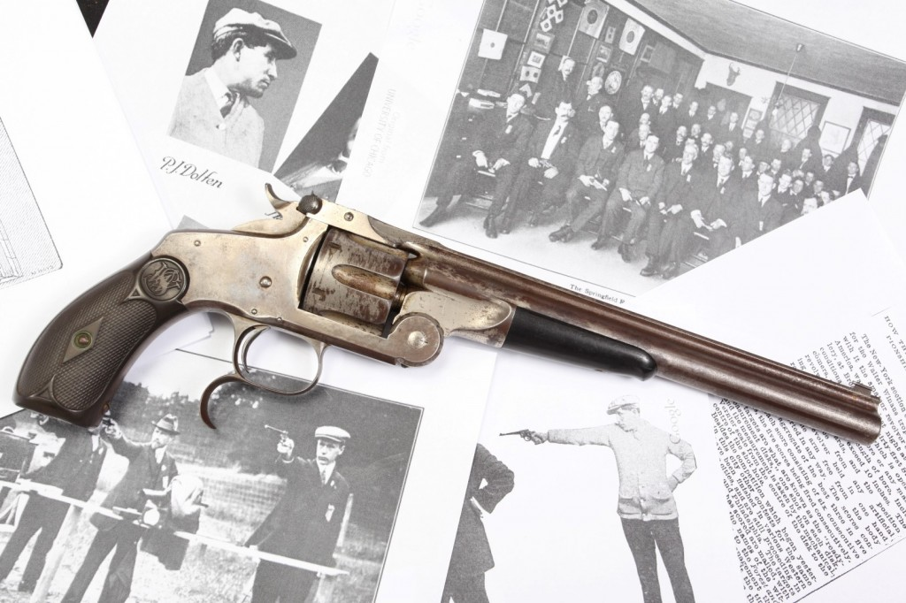 9″ Smith & Wesson S&W Model 320 Revolving Rifle, 1889 Conlin's Shooting Gallery Prize Awarded to P.J. Dolfen