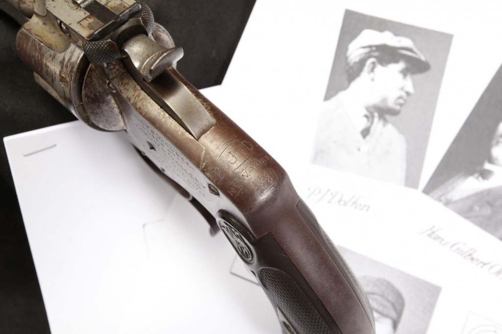 "9"" Smith & Wesson S&W Model 320 Revolving Rifle, 1889 Conlin's Shooting Gallery Prize Awarded to P.J. Dolfen"
