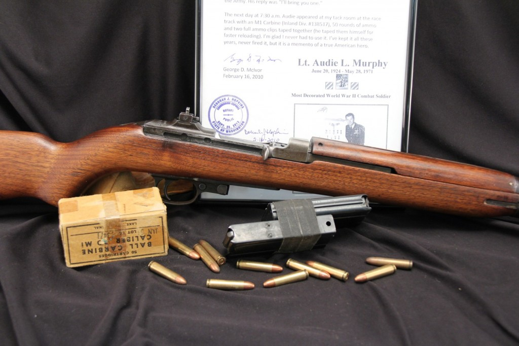Audie Murphy's M1 Carbine Gift To DFC Recipient George D. Mclvor – For Sale At LSB