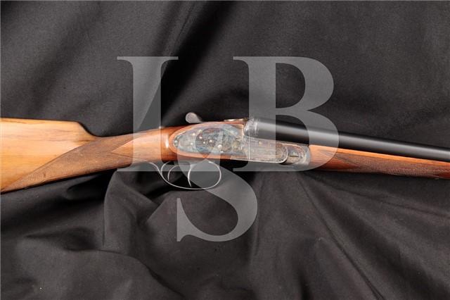 """Ignacio Ucartechea Eibar Spain, Engraved Sidelock Case Color 27.5"""" SxS Side By Side Shotgun 1963 C&R"""