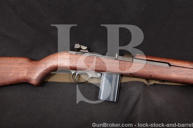 """Inland Division GM General Motors M1 .30 Carbine 18"""" Military Semi Automatic Rifle & Sling 1944 C&R"""