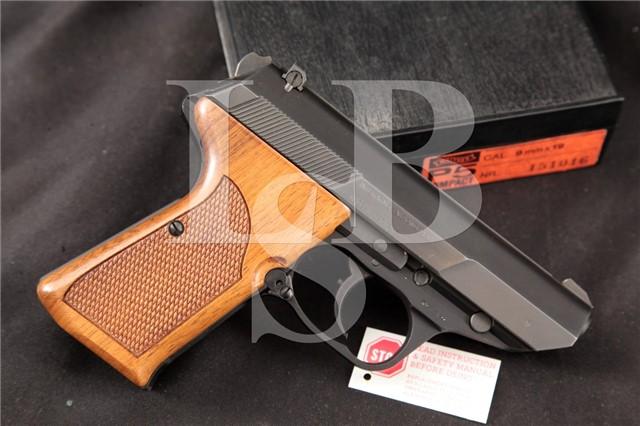 """Interarms Walther Model P5c Compact, Blue 3"""" 9mm RARE SA/DA Semi-Automatic Pistol & Case, MFD 1989"""
