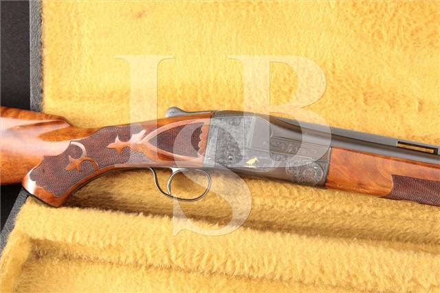 """Ithaca Gun Co. Knick Grade 5-E 5E Single Trap 12Ga Engraved 32"""" Ejector Shotgun & Case, MFD 1949 C&R"""