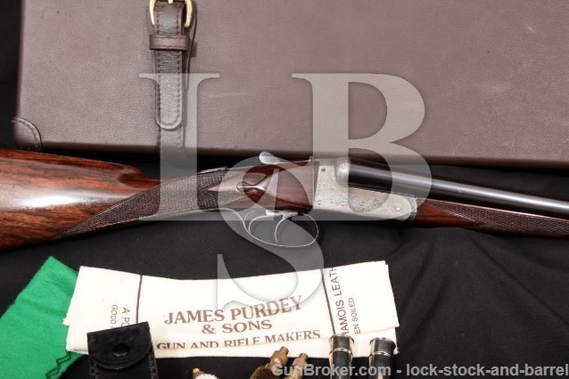 "J. Purdey & Sons Boxlock Hammerless D Quality C&R Blue 28"" Ejectors SXS Double Shotgun, 1908 16 GA"