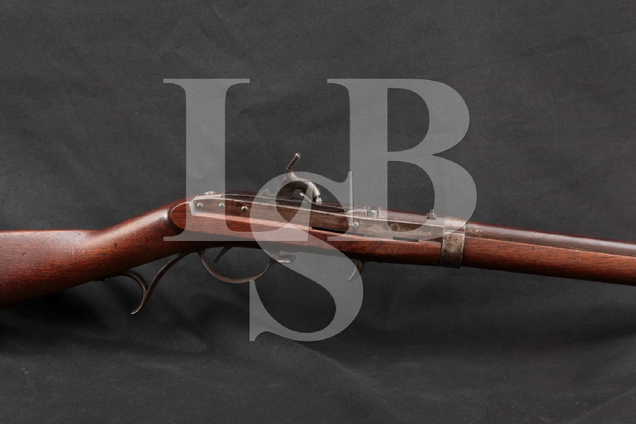 "J.H. Hall Harpers Ferry U.S. Rifle Model 1819, 2nd Production Conversion, Blue & Case Hardened 32 ½"" Percussion Breech Loaded Rifle, MFD 1831 Antique"
