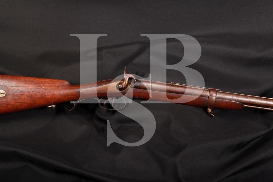 Jacob's / Swinburn & Son Double Barrel Rifle Mfd 1861, Antique Shoots Exploding Projectiles 1,000 Yrd's