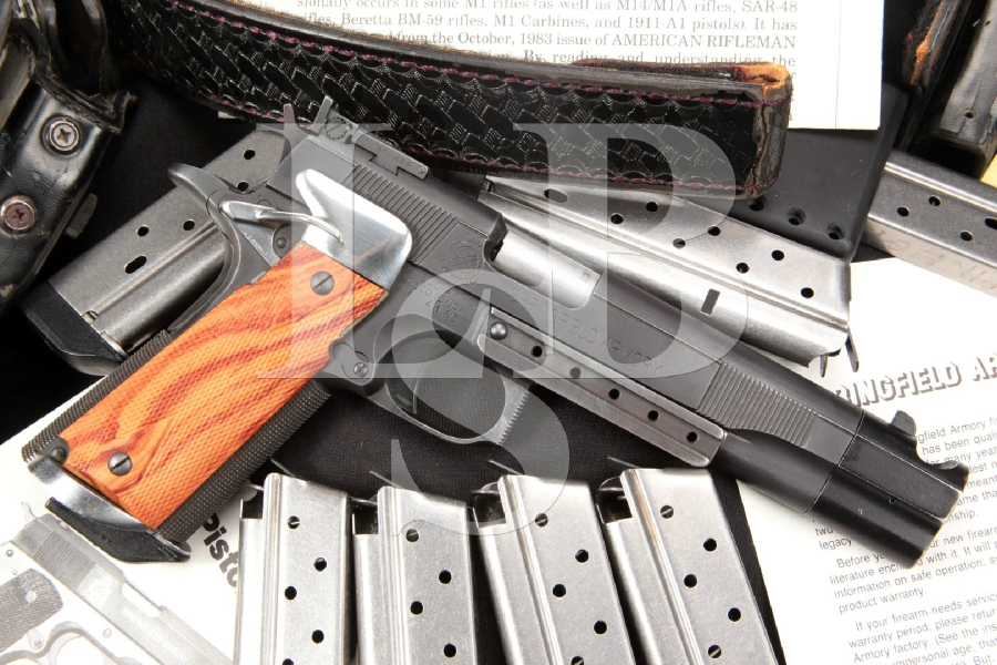 Jim Boland Custom Springfield 1911A1, Parkerized 6″ Semi-Automatic IPSC Open Competition Pistol & Rig