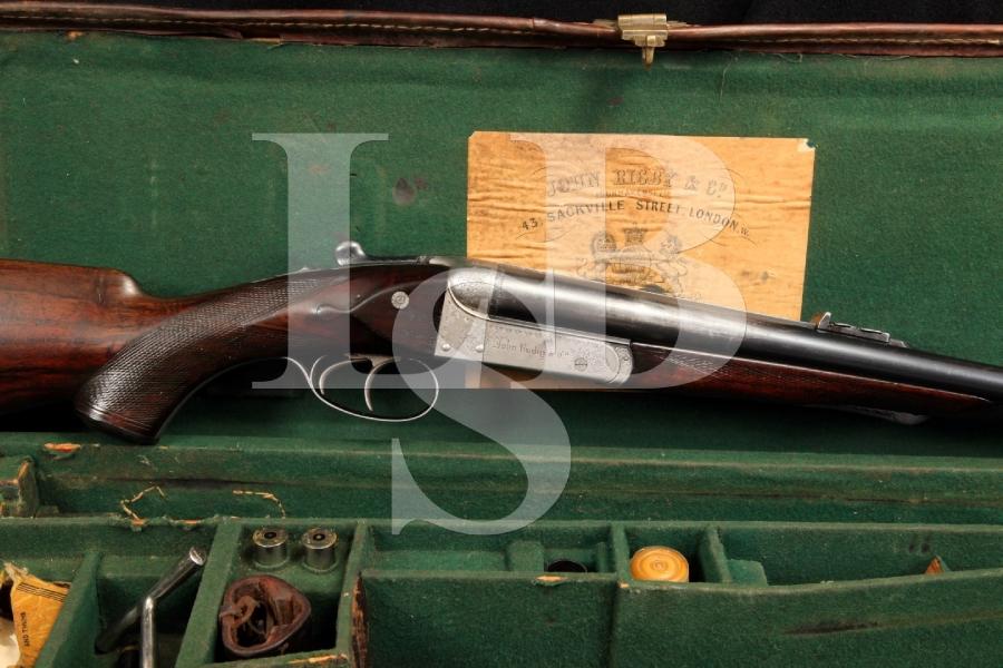 John Rigby & Co. .470 NE SxS Nitro Express Double Rifle & Original Case C&R