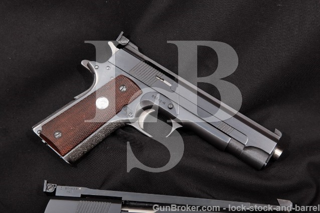 "Kart Sporting Arms Custom .22 1911 Blue 5"" SA Semi Auto Pistol & Custom 6"" Colt Conversion Unit"