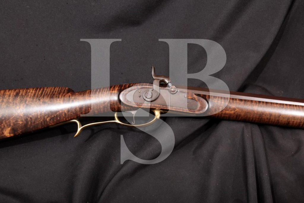 Kentucky Rifle, Percussion, Blued 38 Single-Shot Muzzle-Loading Rifle, Atf Antique .38 Caliber Ball
