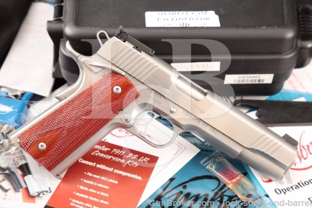 Kimber Gold Match II Stainless .45 ACP 1911 & Box Matte & Polished Semi-Automatic Pistol & Case