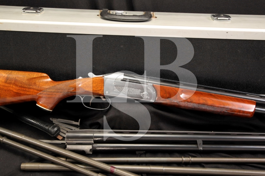 Krieghoff Model 32 O/U 12 & 20 Two Barrel Set Skeet Shotgun with 28 & 410 Ga Tubes