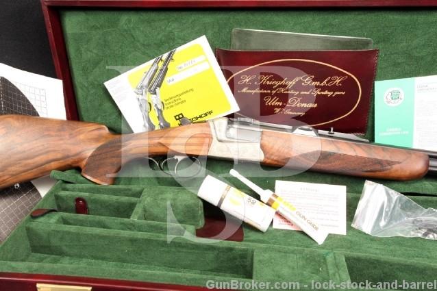 Krieghoff Teck BDB .375 H&H Holland & Holland O/U Over Under Double Rifle w/ Ejectors Cased