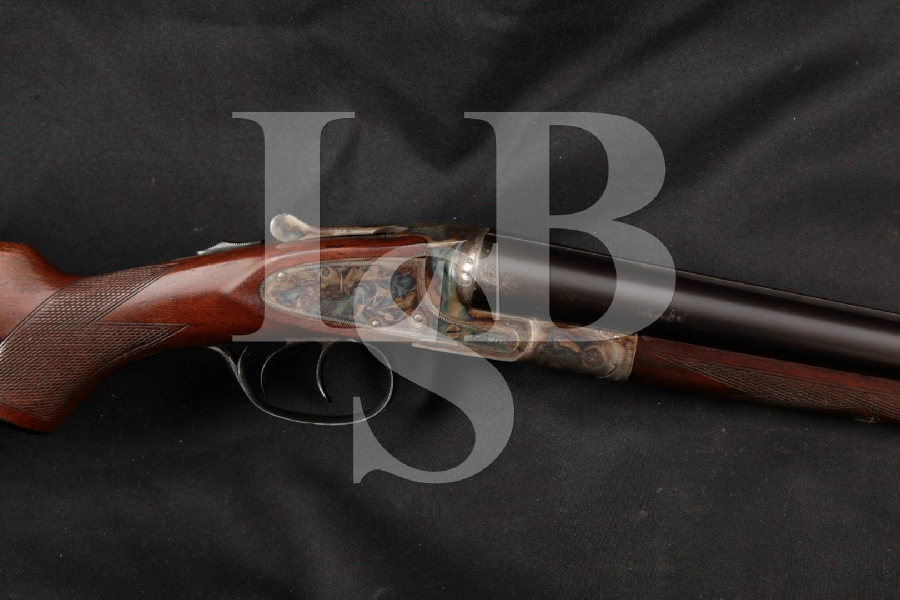 """L.C. Smith / Hunter Arms Co. Model FWE Featherweight Ideal Grade, Blue & Case Colored 30"""" Side by Side SxS, Boxlock Shotgun, MFD 1929 C&R"""