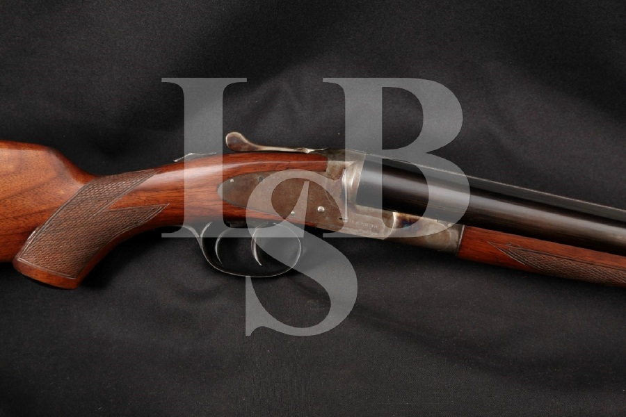 """L.C. Smith / Hunter Arms Featherweight FWE Field Grade, Blue & Case Colored 28"""" Side by Side SxS Boxlock Shotgun, MFD 1920 C&R"""