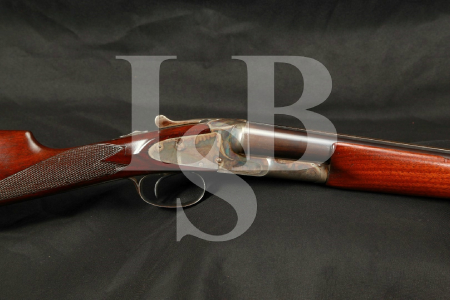 "LC Smith, Hunter Arms Field 00 Grade Hammerless Single Trigger Blue, Case Colored 28"" SXS Double Barrel Shotgun MFD 1909 C&R"