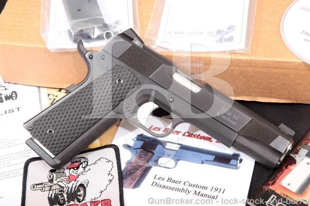 Les Baer Ultimate Tactical Carry 1911 Blue 5″ SA Semi Auto Pistol & Box, MFD 2011 .45 ACP