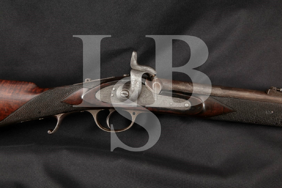 "London Armoury L.A. Co. Whitworth Match Model, Possible Confederate Sniper, Engraved 35"" Single Shot Percussion Rifle, MFD 1862 Antique"
