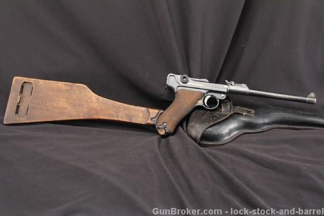1914 DWM Artillery Model Luger w/ Shoulder Stock & Holster
