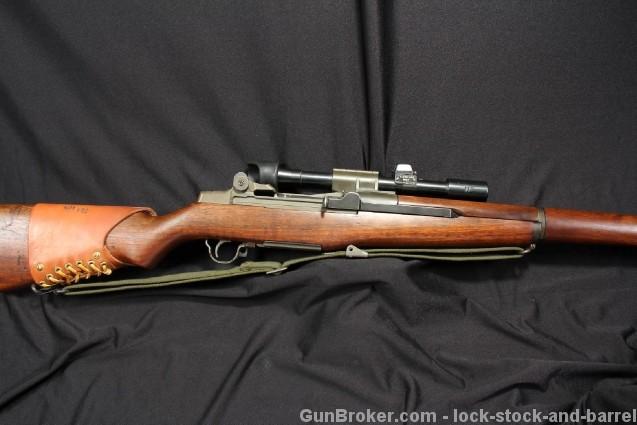 Sharp Original Springfield M1D M1-D Sniper Garand .30-06 SPRG, Cartouched Stock – Mf'd 1953 C&R OK