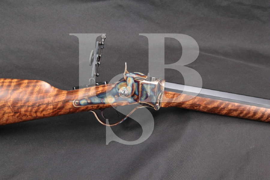 "MINT Dakota Arms Model Sharps Falling Block Varmint Rifle, Blue & Case Colored 26"" .17 Caliber Single Shot Rifle"