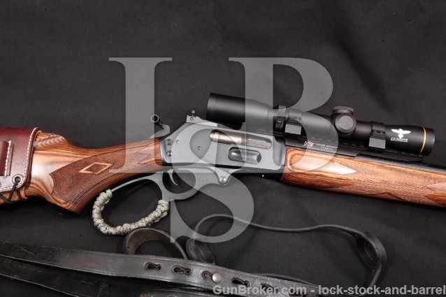 "Marlin 1895GBL 1895-GBL & Leupold Gunsite VX-2 Blue 18.5"" Lever Rifle & 1.5-4x Scope .45-70 Govt."