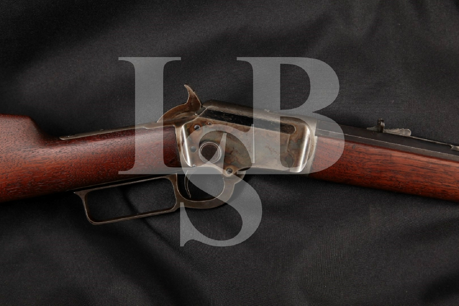 "Marlin 97 1897 Takedown Model, Beautiful Blue & Case Colored Octagonal 24"" Lever Action Tube Fed Rifle, MFD Early 1910's C&R"