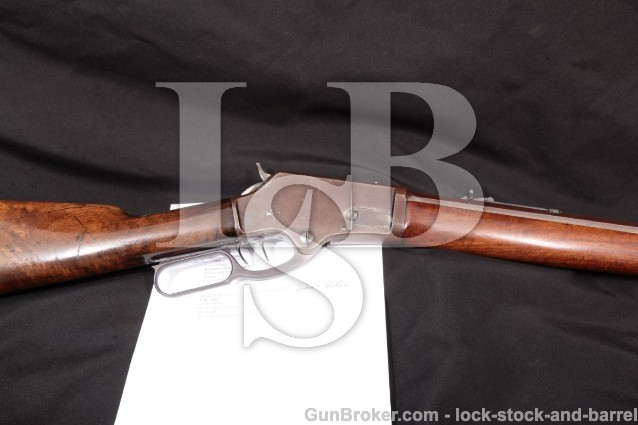 Marlin Firearms Model 1881 Short Rifle, .40-60 Win W.A. Fish Marked 24″ Octagon, Set-Trigger, 1885