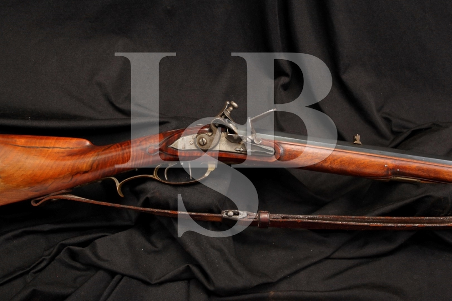 Mathias Tieffenbrunner .50 Cal Single Shot Set Flintlock Sporting Rifle – Antique