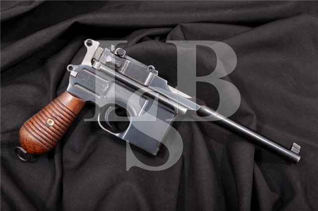 Mauser C96 Broomhandle Late 1930 Commercial 7.63mm Non-Import Semi-Automatic Pistol MFD 1934-1937 C&R