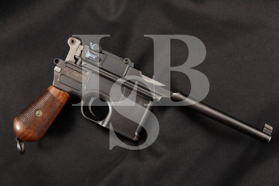 "Mauser C96 Broomhandle Standard Prewar Commercial Model, Blue 5 ½"" SA Semi-Automatic Pistol, MFD 1911-1915, C&R"