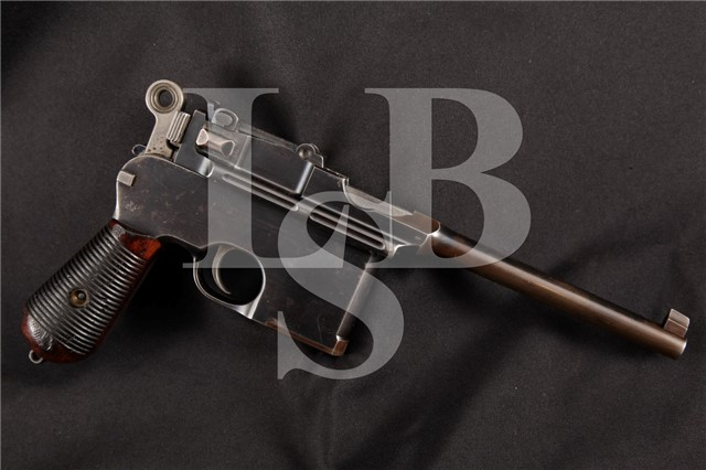 Mauser Model 1896 C96 Broomhandle Late Flatside Commercial 7.63mm Semi-Auto Pistol MFD 1900 C&R OK