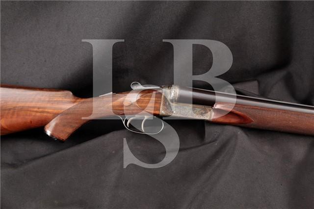 Mitchell Bosly & Co. Birmingham England, Engraved Boxlock SxS Side By Side Shotgun, MFD 1954 C&R