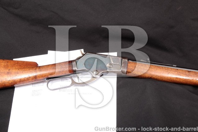 NICE Marlin Firearms Model 1881,Octagon 45-70 Govt 28″ Blue Lever Action Rifle, MFD 1886 Antique