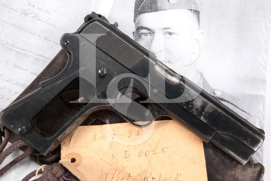 "Nazi Marked WWII Bringback FB Radom Model Vis 35 Grade I, Blue 4 11/16"" SA Semi-Auto Pistol & Holster, MFD 1939-40 C&R"