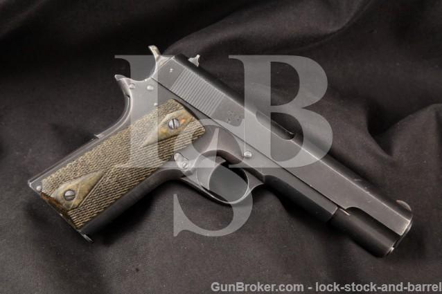 "Norwegian Kongsberg Vapenfabrik Model 1914 Blue 5"" RARE SA Semi-Automatic Pistol, MFD 1946-47 C&R"
