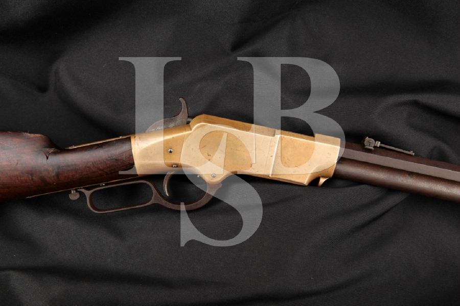 """ORIGINAL New Haven Arms Co. Model 1860 Henry, Matching Numbers, Visible Henry Bump, Blue 24"""" Civil War Era Lever Action Rifle, MFD 1864 Antique"""
