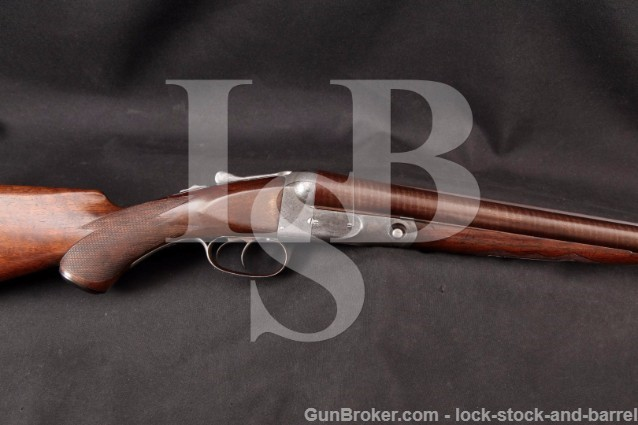 Parker Brothers GH Grade 2 Hammerless 30 12 Gauge SxS, Double Trigger Damascus Shotgun, 1897 Antique
