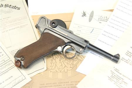 39th Regiment Nazi Machine Gun Company Documented WWII German 1914 DWM Luger
