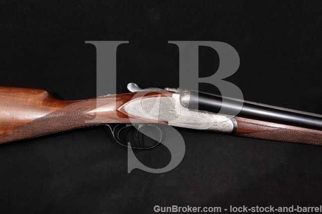 "Prandelli & Gasparini Italy Engraved 26"" 28 Gauge Sidelock SxS Side-By-Side Shotgun, MFD 1966 C&R"