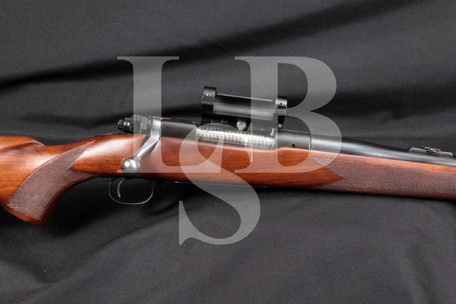 "Pre 64 Winchester Model 70 M70 'Pachmayr Tuned', Blue & Jewled 25"" Custom Bolt Action Hunting Rifle, MFD 1948 C&R"