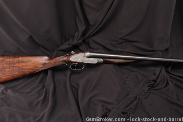 J. Purdey & Sons Best Quality 12 Gauge SxS Shotgun Re-Proved Engraved Side by Side, 1887 Antique