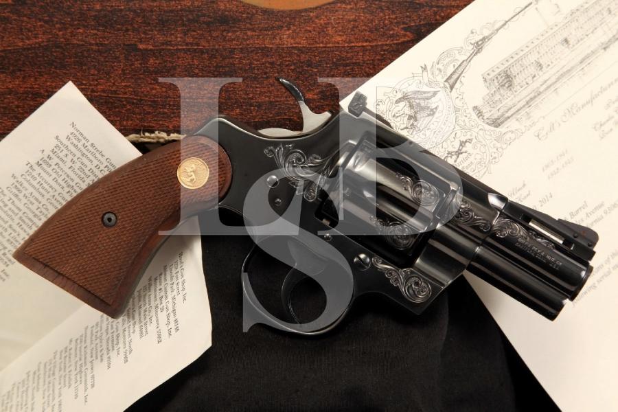 "A Class Factory Engraved Colt Python 2 1/2"" .357 Magnum Double Action Revolver, Box & Letter"