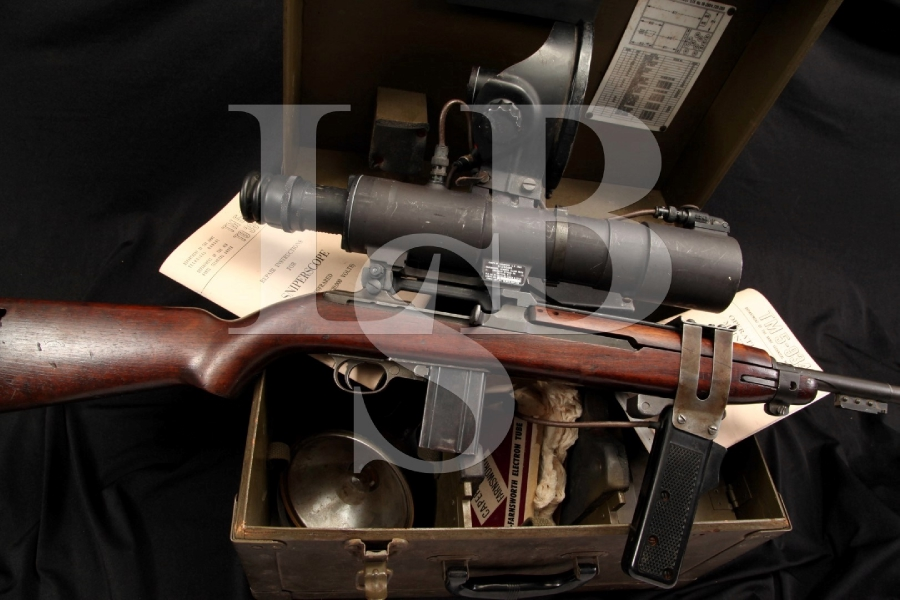 Quality Hardware M1 30 Carbine Semi Automatic Rifle & Infrared Sniper Scope & Box