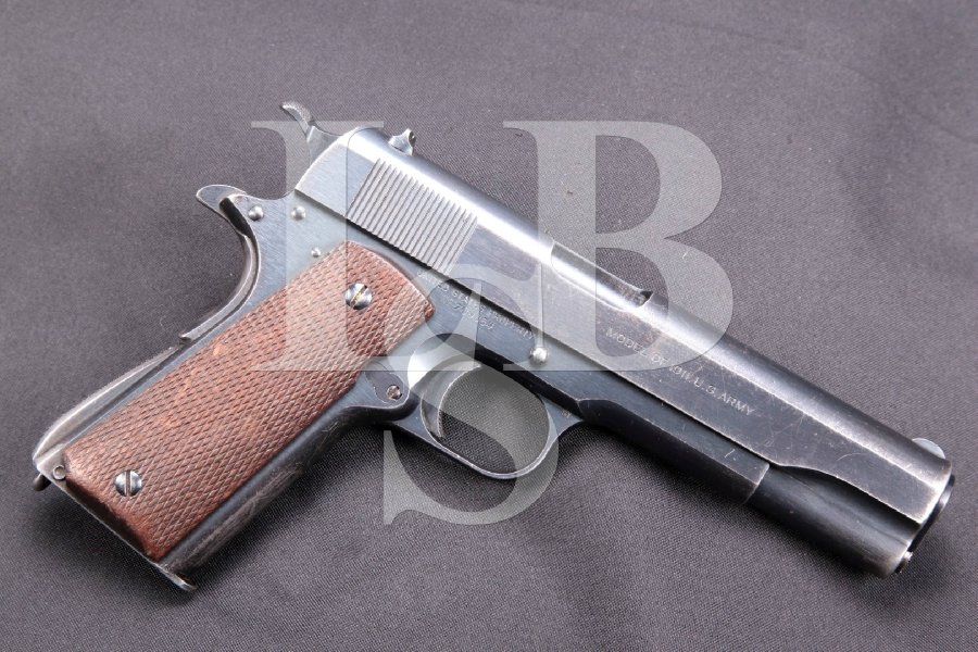 "RARE Colt Transition Model 1911 / Transitional 1911A1, Blue 5"" SA Semi-Automatic Pistol, MFD 1924 C&R"