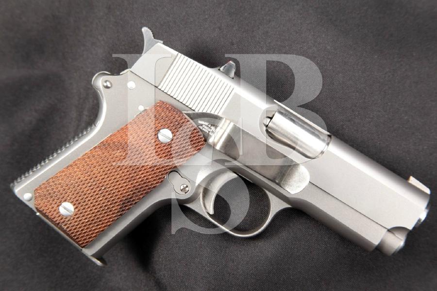 "RARE Detonics Combat Master MK V Mark 5, Brushed Stainless 3-1/2"" Semi-Automatic Pistol, Seattle Made"