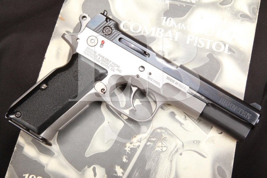 RARE Dornaus & Dixon SFL Standard Bren Ten 10mm Semi-Automatic Pistol, Mag & Manual, MFD 1984 C&R