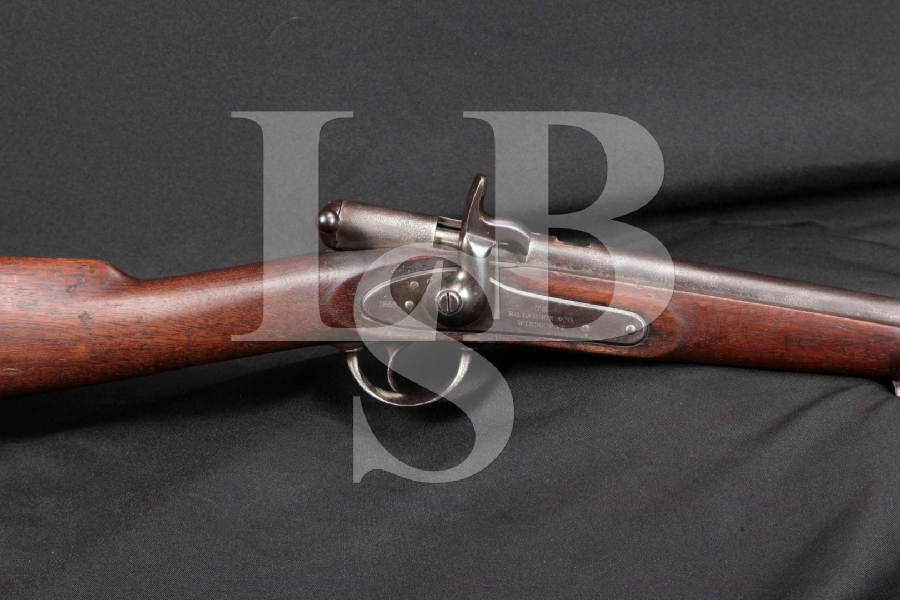 "RARE E.G. Lamson Model Palmer Bolt Action Civil War Carbine, External Hammer, Blue 20"" Singe Shot Rifle, MFD 1865 Antique"